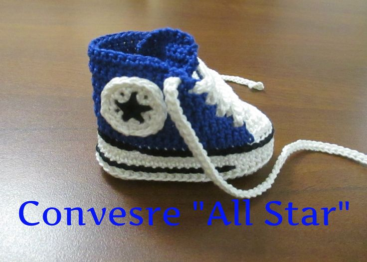 "Tutorial Uncinetto Scarpine Bebe' Converse ""All Star"" III Parte"