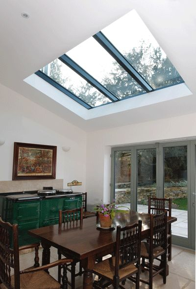 Small rooflight in kitchen as an alternative to Velux windows