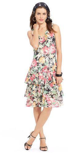 Ralph Lauren Ruffled V-Neck Dress