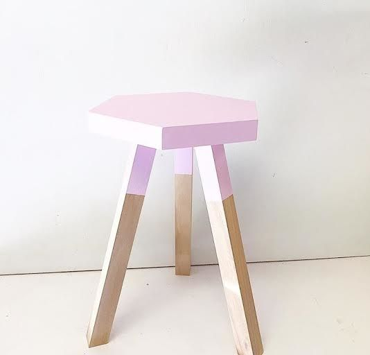 Dipped Hexagon Side Table