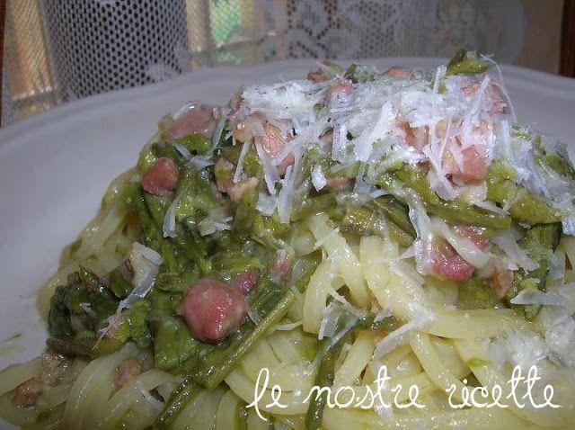 pasta agli asparagi selvatici e pancetta
