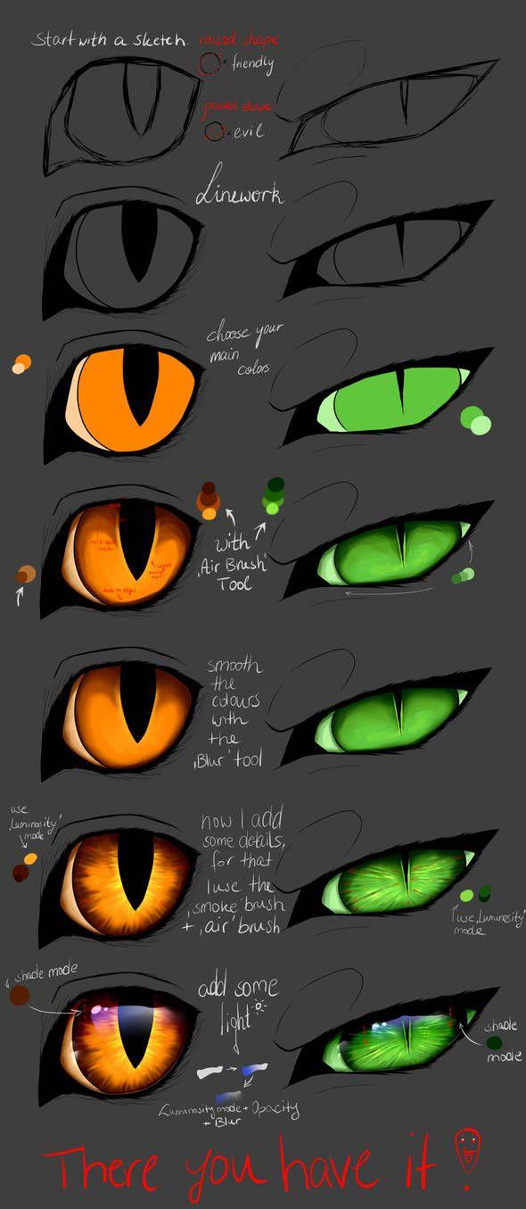 Tutorial Cat Eyes Paint Tool Sai By Copperlight On Deviantart