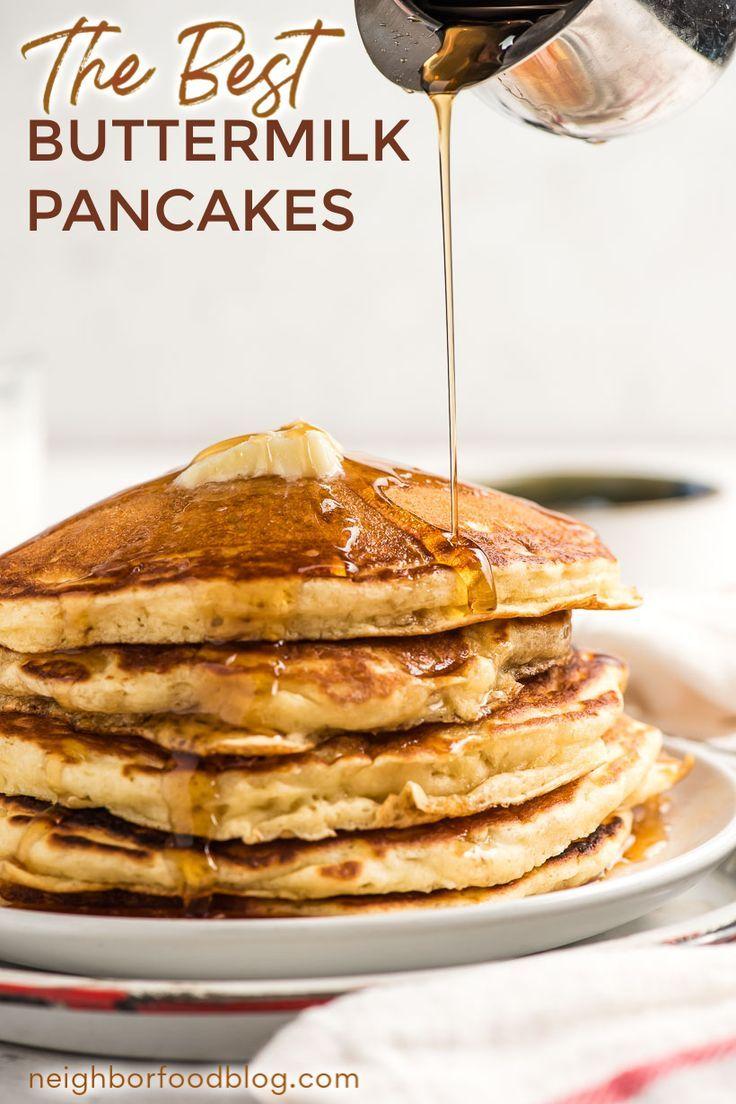 Fluffy Buttermilk Pancake Recipe In 2020 Delicious Breakfast Recipes Tasty Brunch Recipes Dessert Recipes Easy