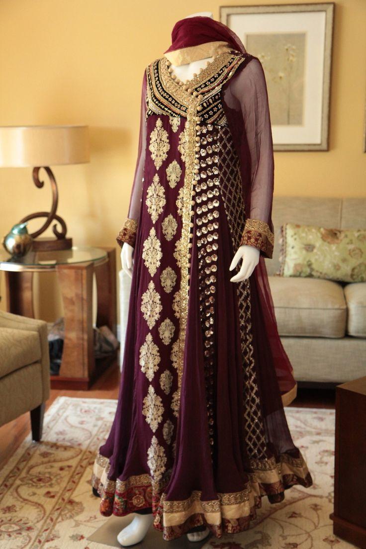Angrakha Style In Pakistani Dresses 2015