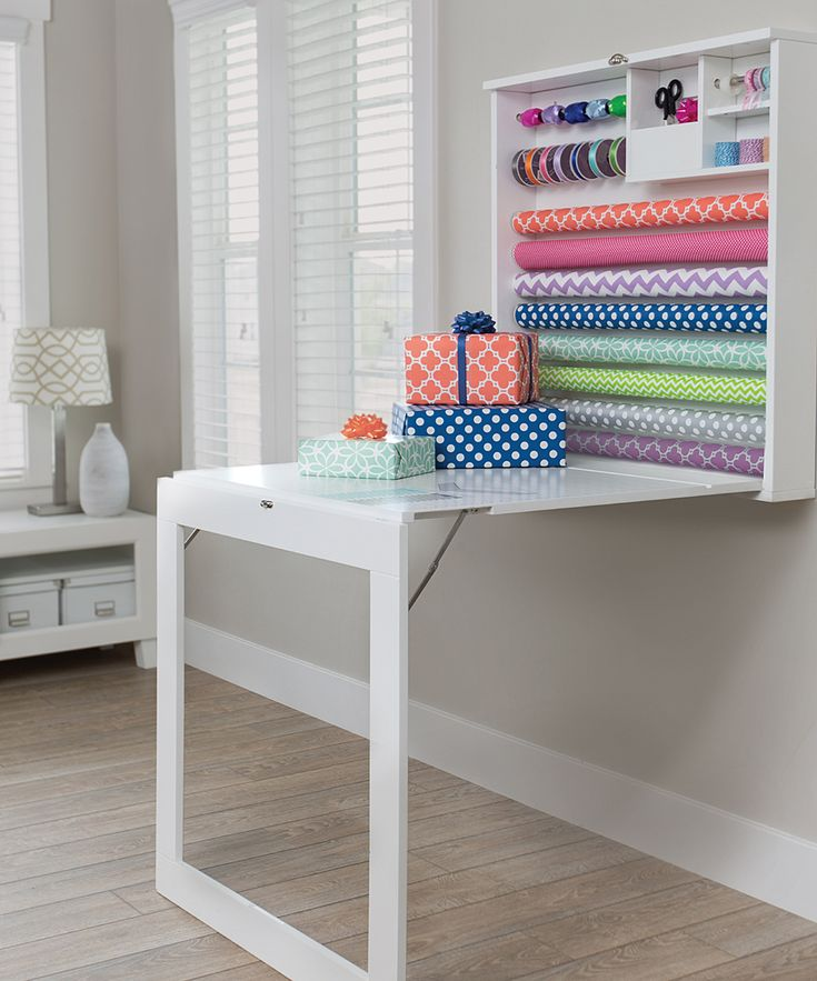 Fold Down Gift Wrap Table
