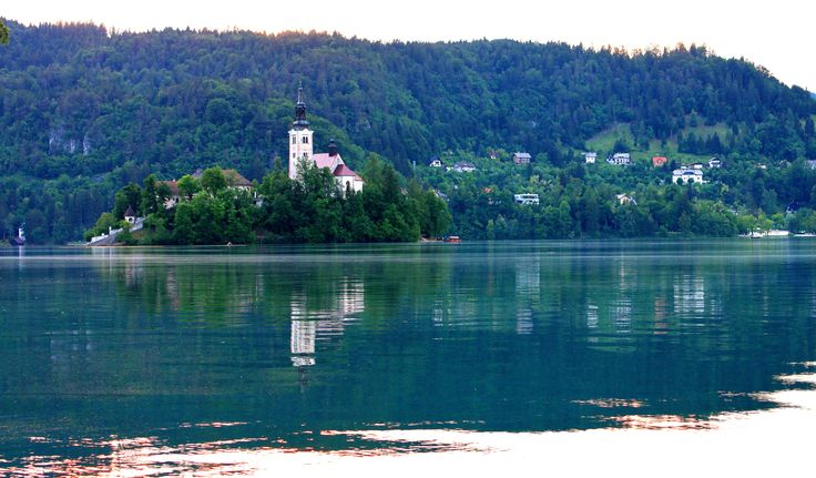 My very normal image of Lake Bled, no fog, no snow, no sunset, yet beautiful.
