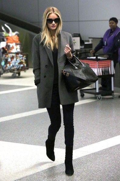 Rosie Huntington-Whitely airport style givenchy antigona
