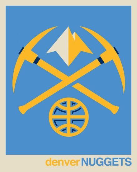 Denver Nuggets Logo: @Denver Nuggets NBA Logo Art From Rareink.com . Buy This