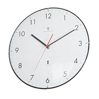 電波壁掛け時計 DomeClock (オレンジインデックス)