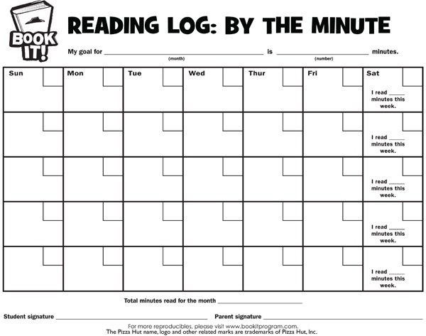 Have your students log the amount of minutes they read each night at home or in School Tools
