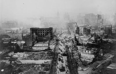 This is a historic photo of the San Francisco earthquake of 1906. Credit: USGS Earth Observatory.