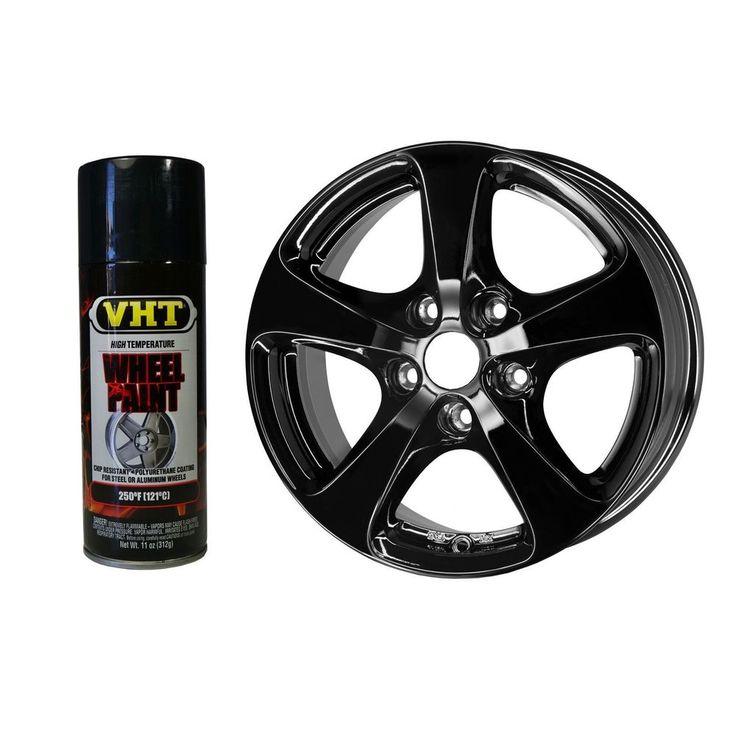 VHT SP187 Paint Gloss Black Wheel Paint Aerosol Automotive Dupli ...