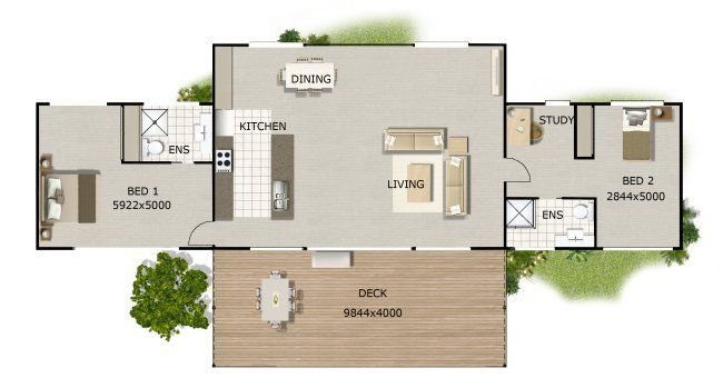 2 Bed Kithome Design Perfect For Us The Farm Pinterest House Plans Us And 2