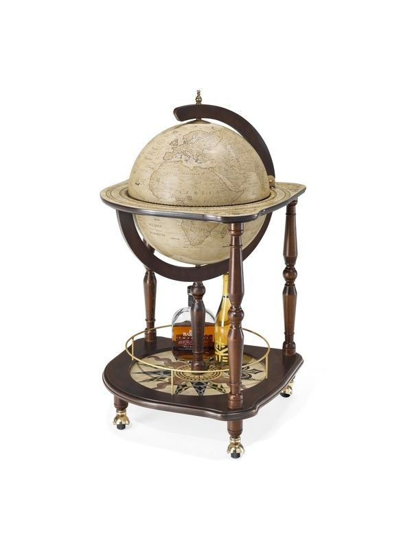Globe Drinks Cabinet Antiqua Serving Tray