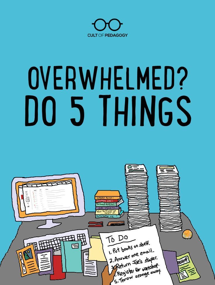 Overwhelmed? Do 5 Things. - At this time of year, feeling out-of-control busy is the status quo for everyone I talk to. So I thought I'd share a little trick I use to ease that feeling of wanting to crawl in bed and never come out again.
