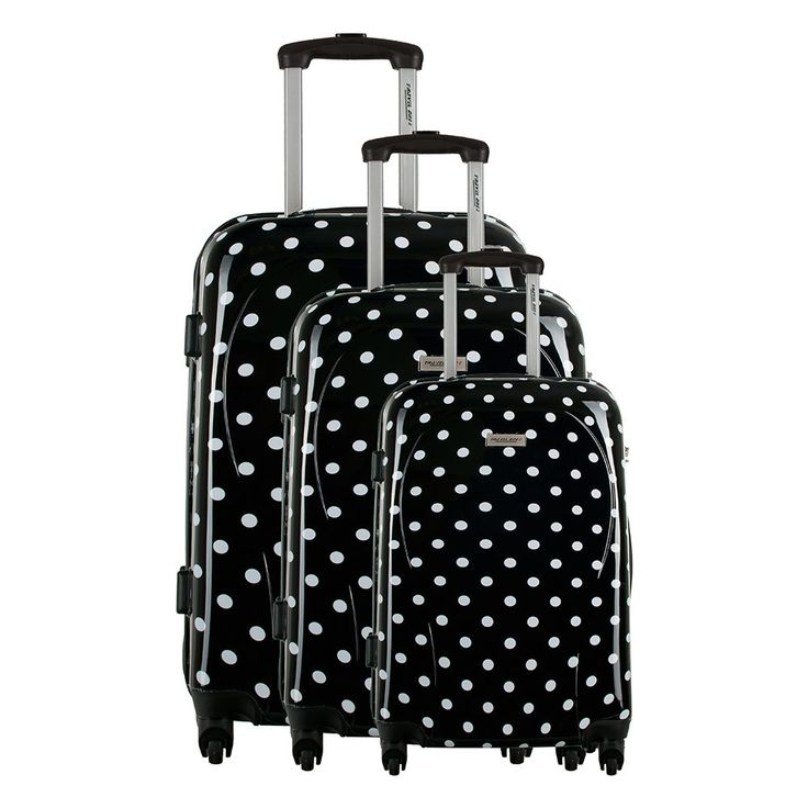 Set di 3 Valigie wallis - Nero e Bianco - Travel One