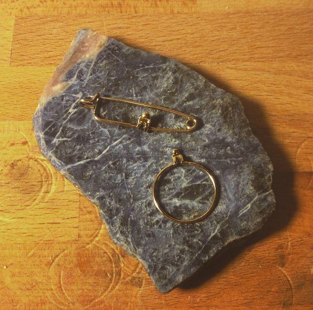 14k gold Human Ring & Brooch