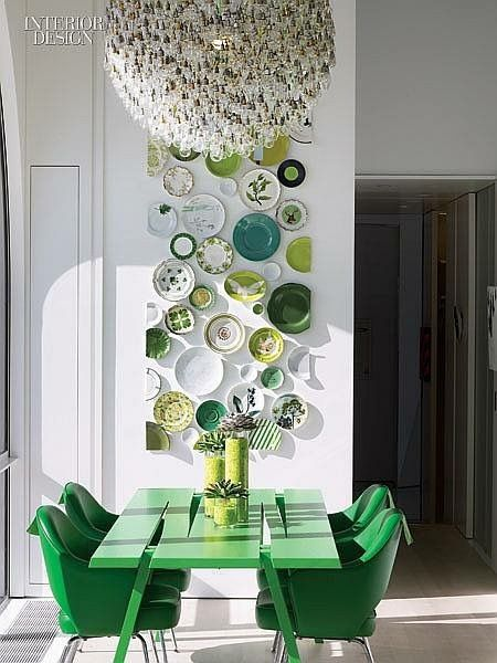 Such A Clever Wall Art Idea For The Dining Room Edison Avenue 10 Interior Decorating Ideas Using Emerald Green