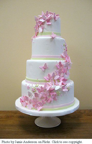 cakes with flowers ideas | love the simplicity of this design. A single dab of icing on a ...
