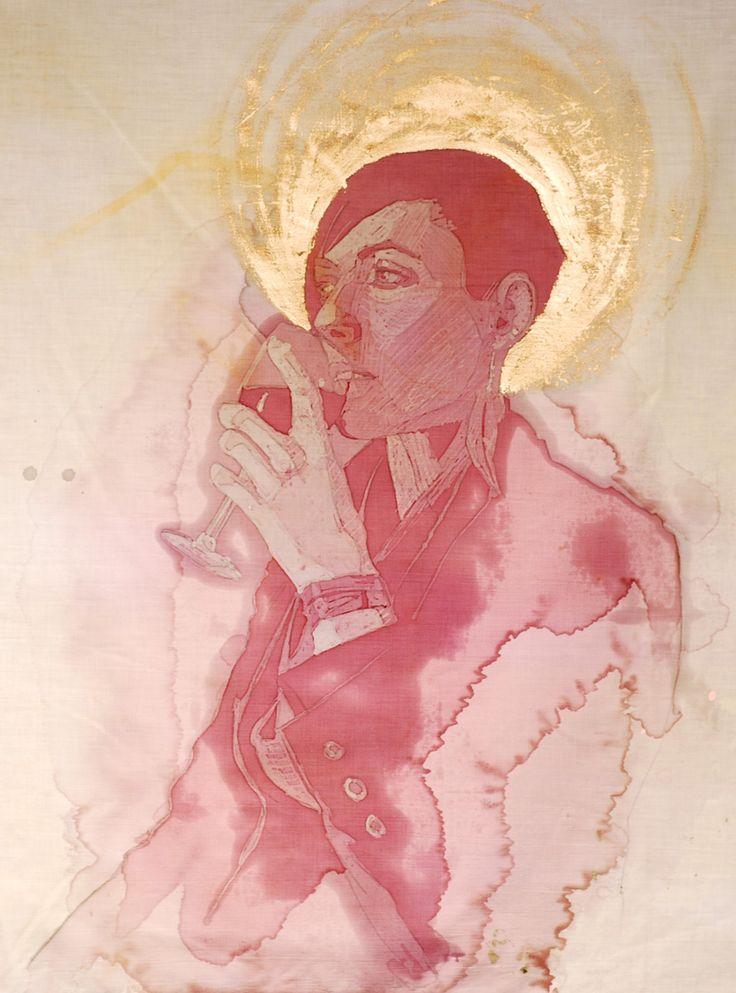Le macchie di vino come arte: Amelia Fais Harnas #art #wine