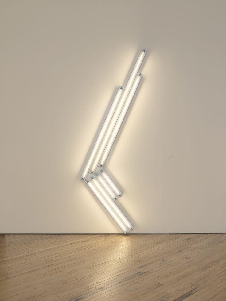 """Dan Flavin """"monument"""" for V. Tatlin, 1964 cool white fluorescent light 11 ft. (335 cm) high © 2012 Stephen Flavin/Artists Rights Society (ARS), New York; courtesy of David Zwirner, New York"""