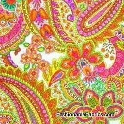 Good Earth Paisley in bright by Alexander Henry Fabrics