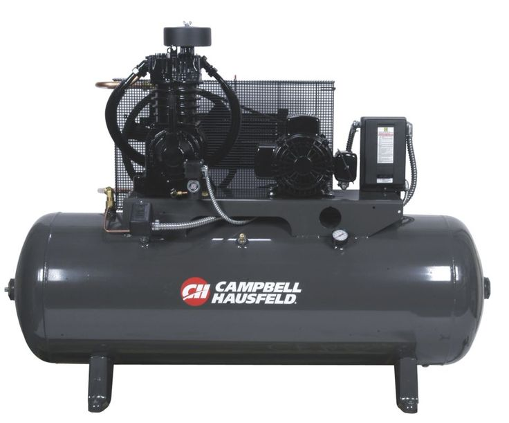 Campbell Hausfeld CE7053FP Three Phase 7.5HP Air Compressor with 80 Gallon Horiz Air Compressors Stationary Electric
