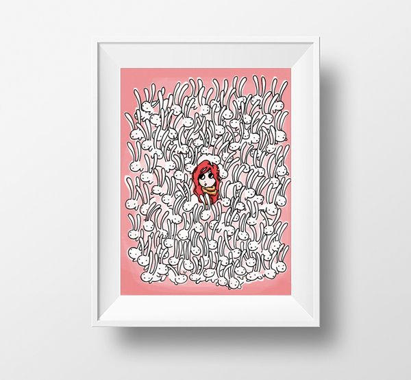 Bunny bunch and the redhead Framed; in by casus olivas...