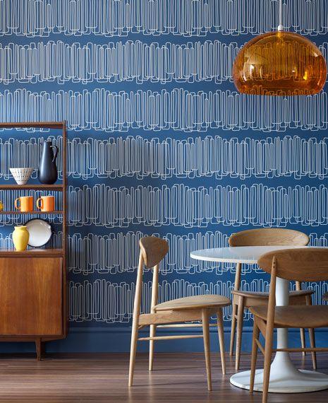 27 besten Retro rooms Bilder auf Pinterest | Metallische tapete ...
