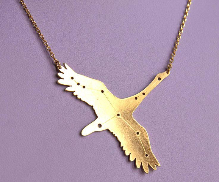 Cygnus constellation swan pendant necklace by Xtellar on Etsy https://www.etsy.com/listing/242960893/cygnus-constellation-swan-pendant