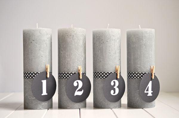 DIY: Puristischer Adventskranz ohne Tannenzweige (www.rheintopf.com) #diy #advent #christmas ähnliche tolle Projekte und Ideen wie im Bild vorgestellt findest du auch in unserem Magazin