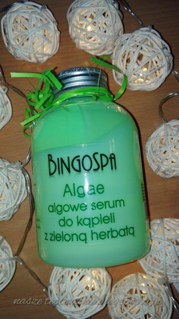 Nasze Testowanie: Algowe serum do kąpieli z zieloną herbatą BingoSpa...
