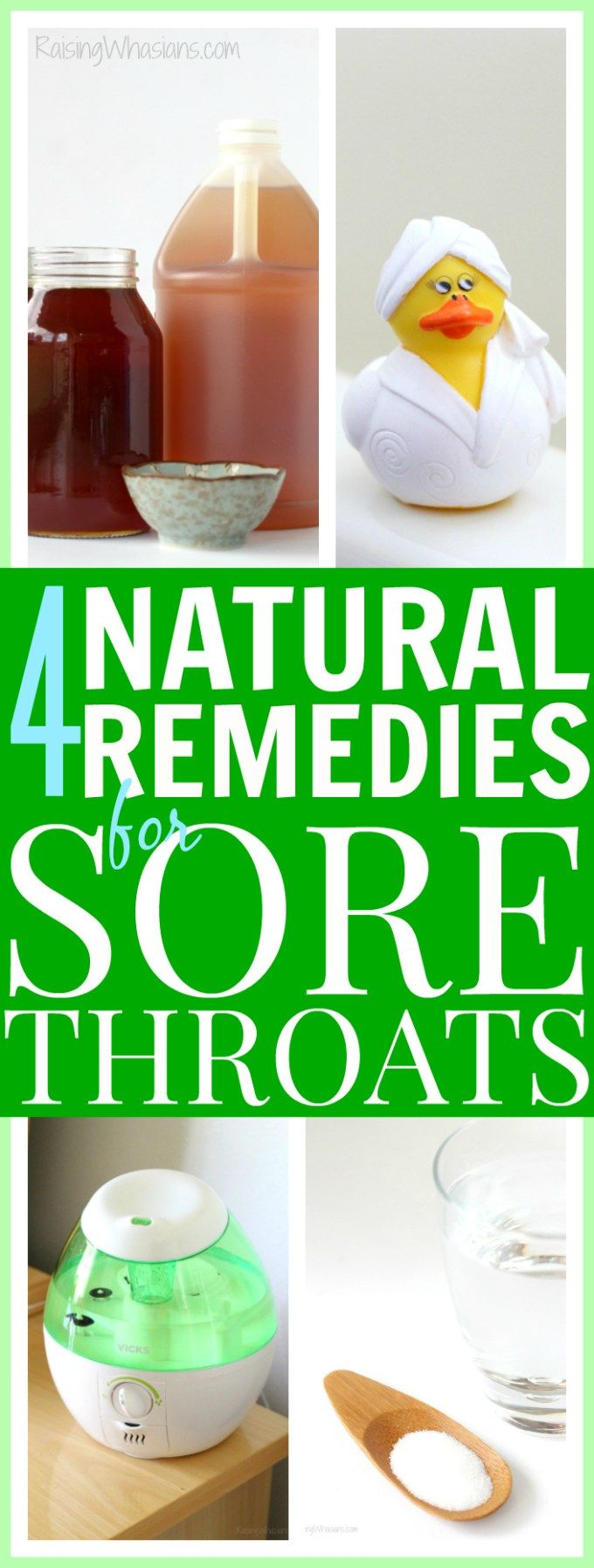 4 Ways to Naturally Ease a Sore Throat. Natural home remedies for a sore throat #VicksHumidifier #IC #ad - Raising Whasians