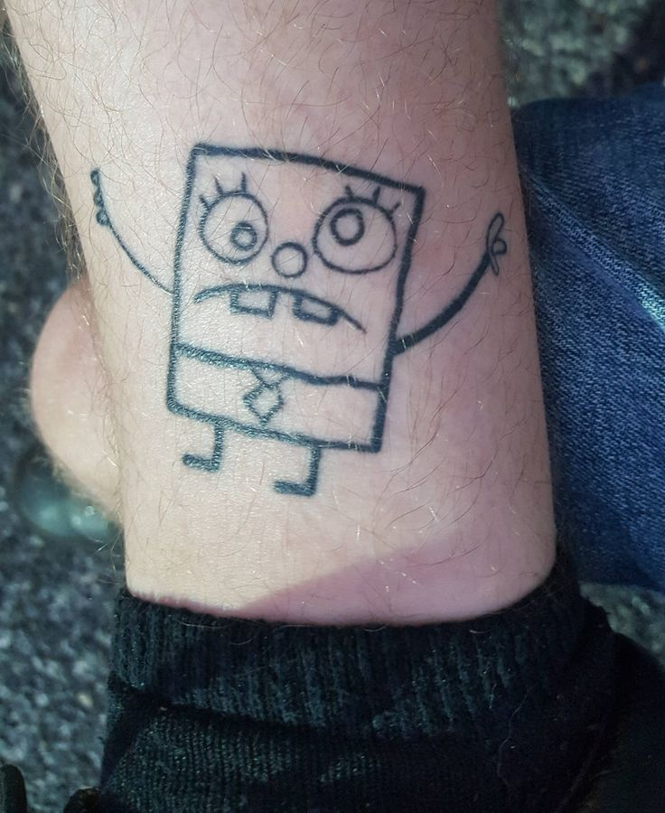 I see your doodlebob tattoo and raise you mine! Got it done a while back @ Freakys Smoke and Tattoo shop in Thornton CO by Dave M
