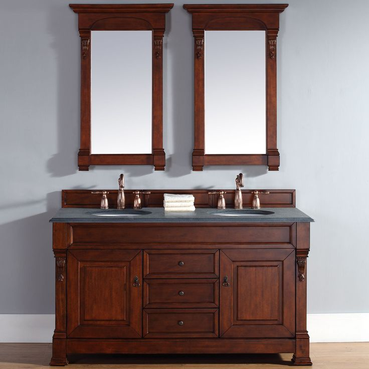 60 Inch Brookfield Warm Cherry Double Vanity By James Martin Furniture