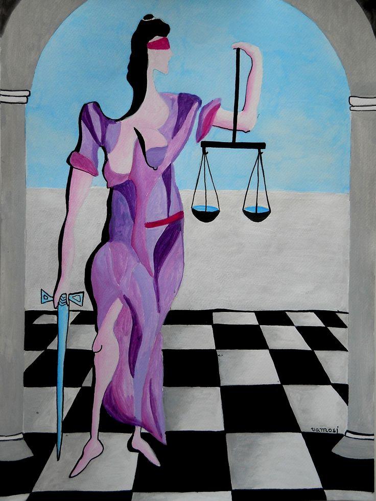 Justice No.1, acrylic on canvas, 30x40 cm, 2015. Painting from artist Peter Vamosi. Price: 120 EUR Spravodlivosť 1.., akryl na plátne, 30x40 cm, 2015, autor Peter Vamosi. Cena: 120 EUR