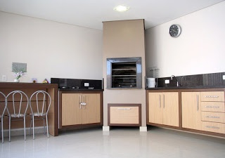 Área de Lazer: Churrasqueira: His, Measure, For, Gourmet Balcony, Profissionai Acompanham, Moveable, Rest, De Marcenaria, Company