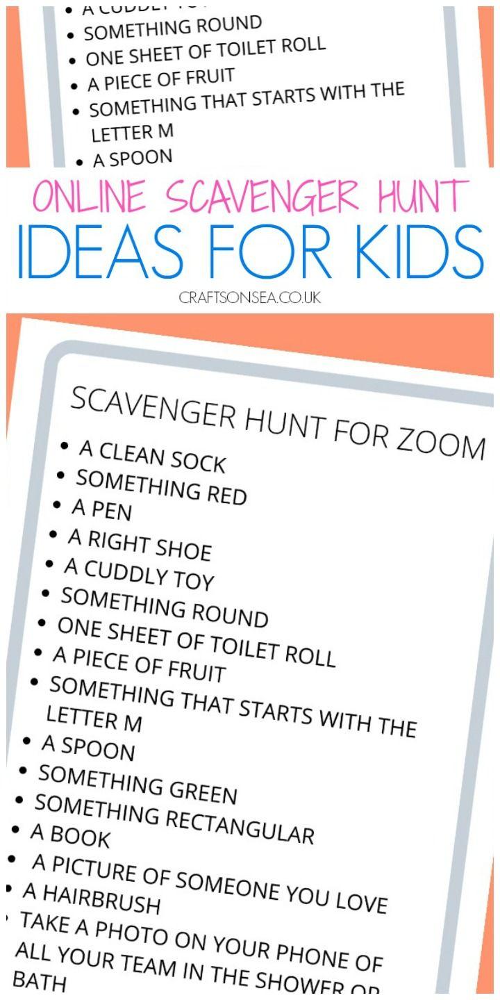 Scavenger Hunt for Zoom (FREE Printable for Kids) in 2020 | Scavenger hunt,  How to make notes, Scavenger