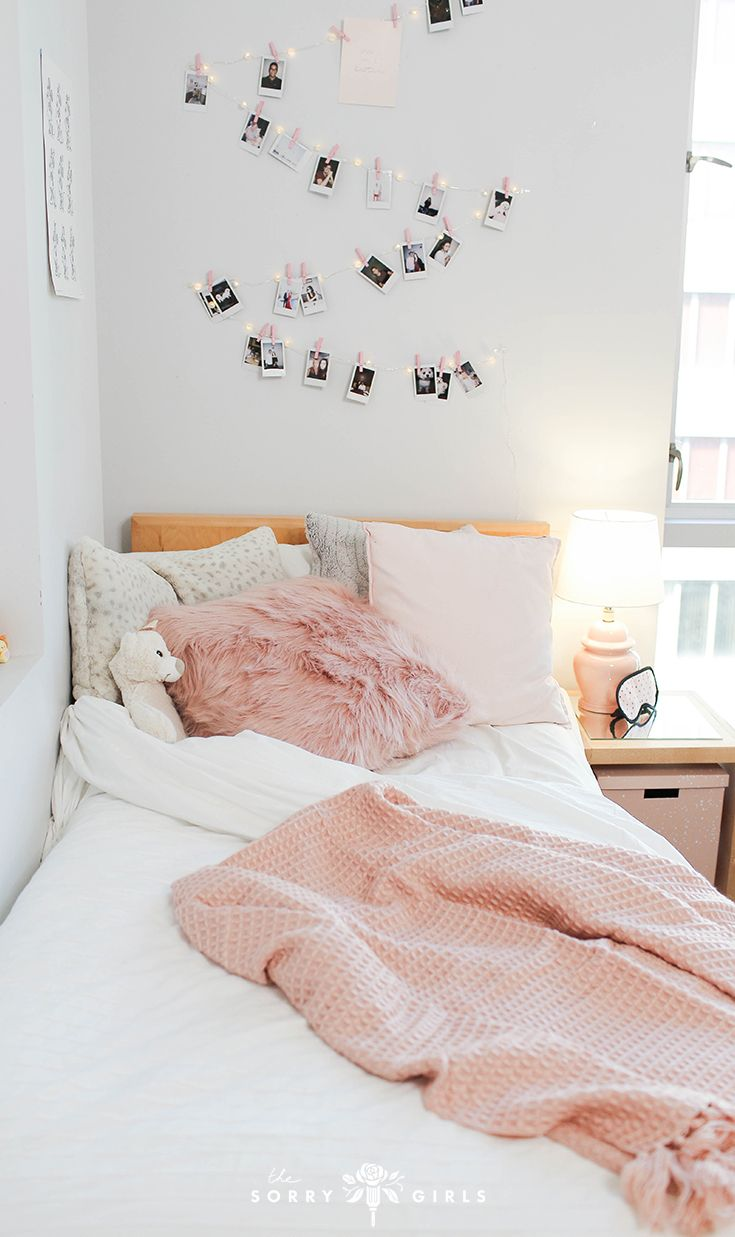 Pink Dorm Room: Cozy Pink Paradise Room Makeover