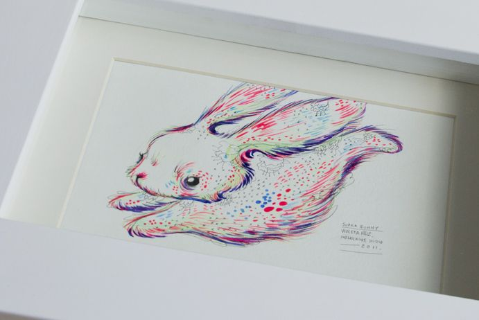 Rabbit - Traditional illus (gouache, pencil y watercolor on paper)