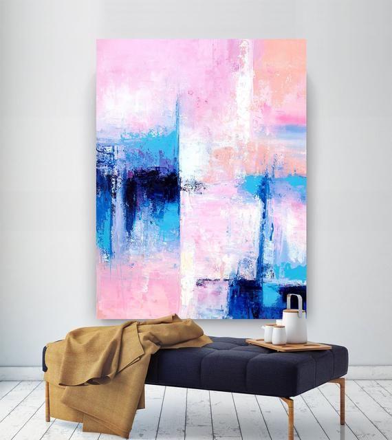 Extra Large Wall Art Original Art Bright Abstract Original Etsy Abstract Painting Large Abstract Wall Art Giclee Art Abstract