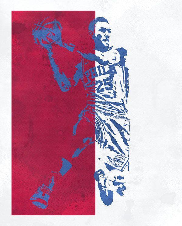 Ben Simmons Philadelphia 76ers Watercolor Pixel Art 25 Art Print By Joe Hamilton In 2020 Pixel Art Art Prints Colorful Art