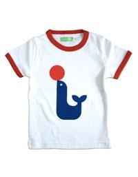 Retro wit Billy T-shirt met blauwe zeehond - Lily Balou