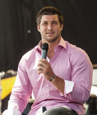 "Tim Tebow speaks to a crowd of 15,000 in Georgetown, Texas. ""In Christianity, it's the Pope and Tebow right now,"" Celebration Church pastor Joe Champion he said. ""We didn't have enough room to handle the Pope."""