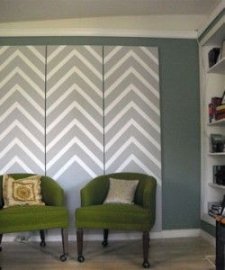 chevron on closet doors