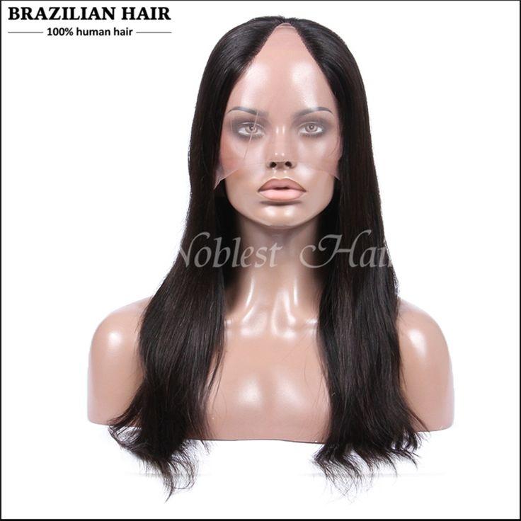 120.75$  Watch now - http://aliva4.worldwells.pw/go.php?t=32436749520 - U Part Wig virgin human hair Brazilian Virgin U Part Human Hair Wigs Black Women Straight U Part Wig Middle/Side Parting 120.75$