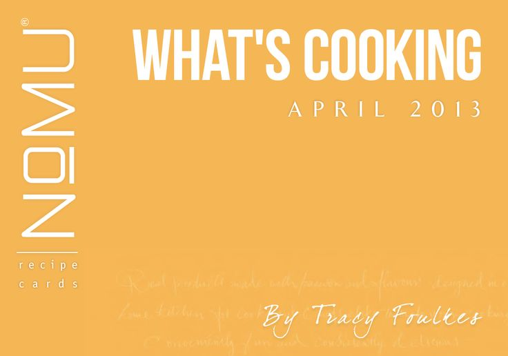 What's Cooking Recipe Cards | April 2013