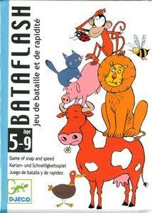 Bataflash est un jeu de bataille et de rapidité. Ce jeu de bataille développe le sens de l'observation des enfants. Le plus rapide gagne! Pour deux joueurs de 5 à 9 ans. Temps d'une partie : 15 minutes environ