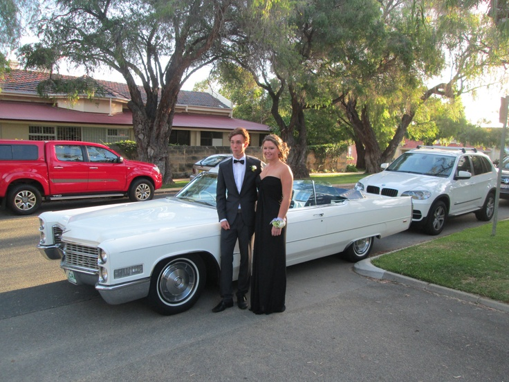 The Cadillac is a popular choice for school balls with seating for 5 passengers