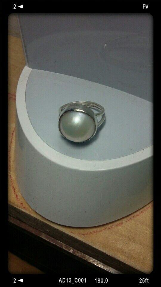 Plata 0.925 y media perla...